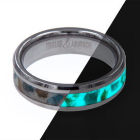 Carbon Ring - Miglar&Wunsch - Tungsten Glow Ring - Arcticon - handgemacht | Shoperino.at